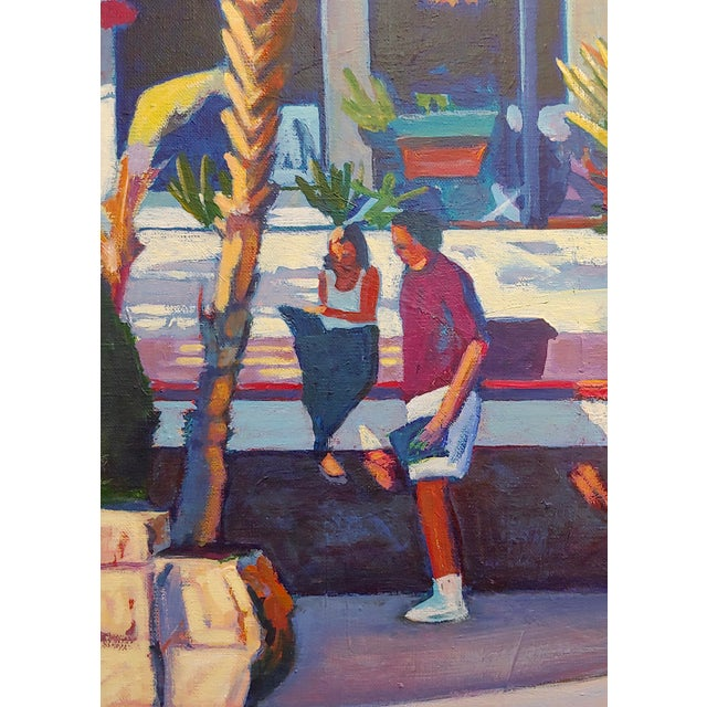 Americana Dennis McNaboe -Santa Barbara Paradise Cafe -Oil Painting For Sale - Image 3 of 8