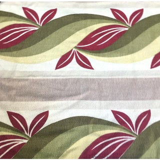 Patterned Barkcloth Curtain Panels - Set of 2 For Sale