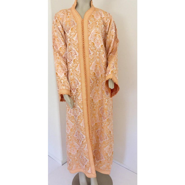 Moroccan Caftan in Gold Brocade For Sale - Image 12 of 13