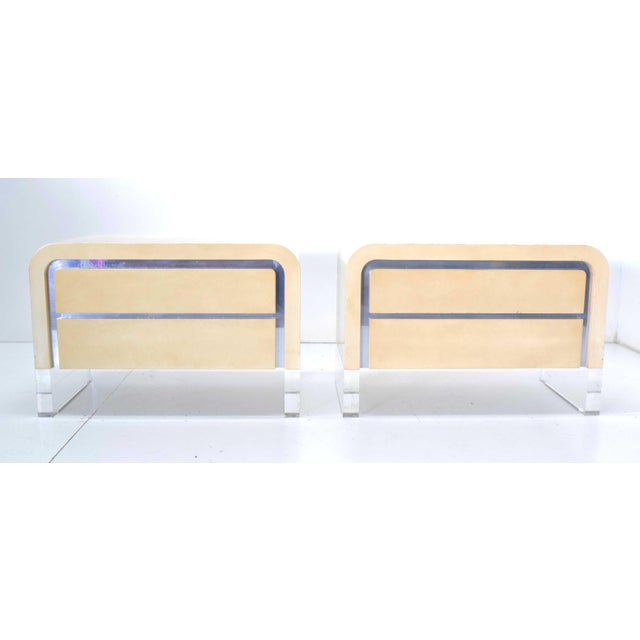 Vladimir Mid-Century Modern Kagan Chests of Drawers or Nightstands - a Pair For Sale - Image 11 of 11