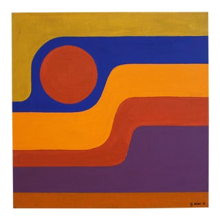 Modern Abstract Painting 1972- California, Otto Rieger Style