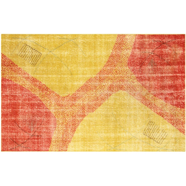 "Turkish Art Deco Rug - 4'9"" x 8' - Image 1 of 3"