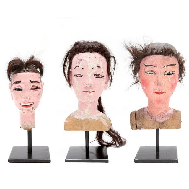 Antique Wooden Doll Heads For Sale - Image 11 of 11