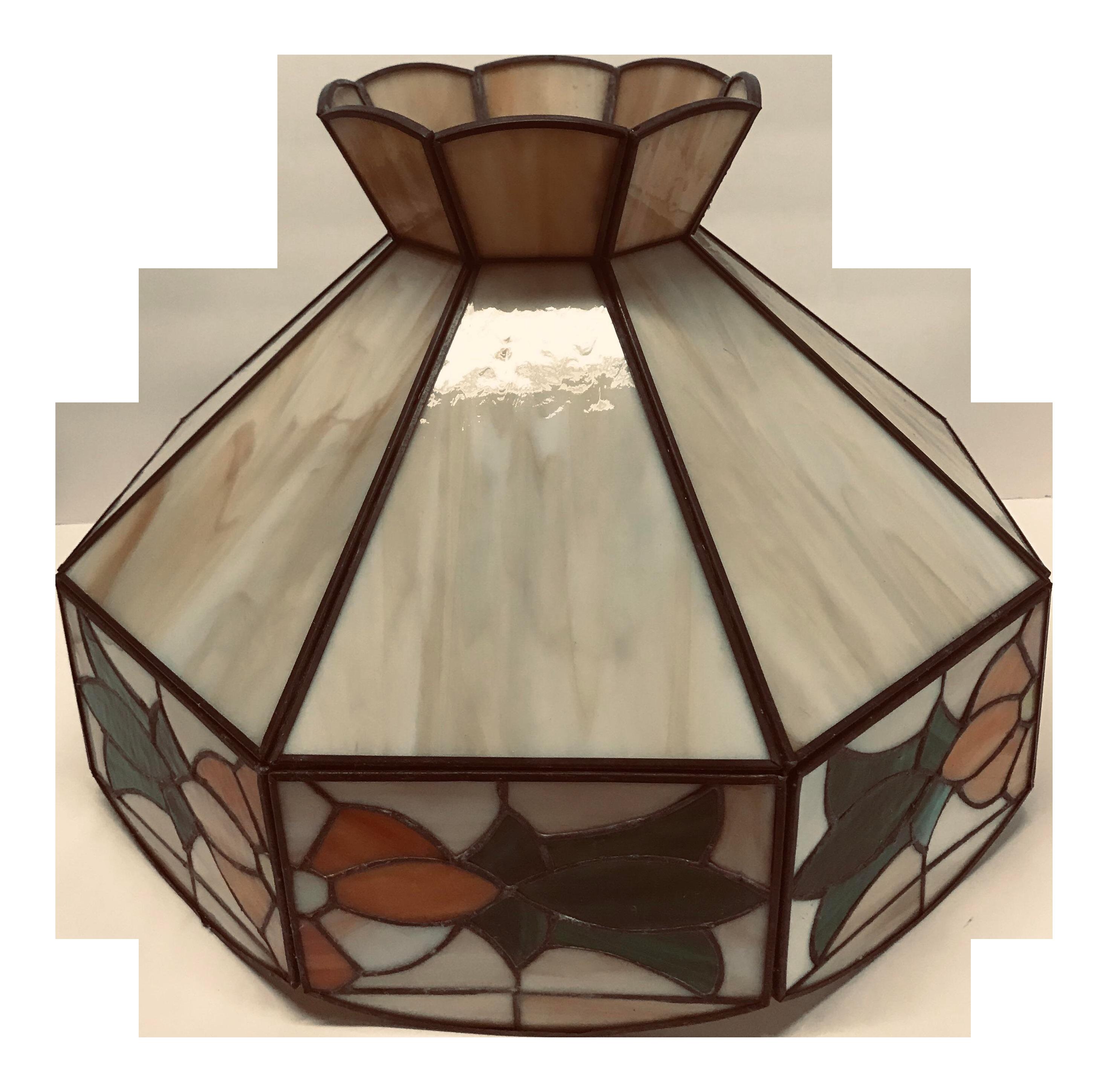 Vintage tiffany style hanging lamp shade