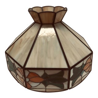 Vintage Tiffany Style Hanging Lamp Shade For Sale