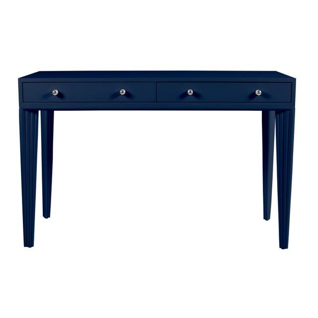 Contemporary Barcelona Desk - Navy Blue For Sale - Image 3 of 6