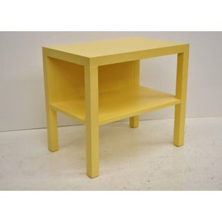 Modern Decca Yellow Grasscloth Raffia Wrapped End Tables - a Pair Preview
