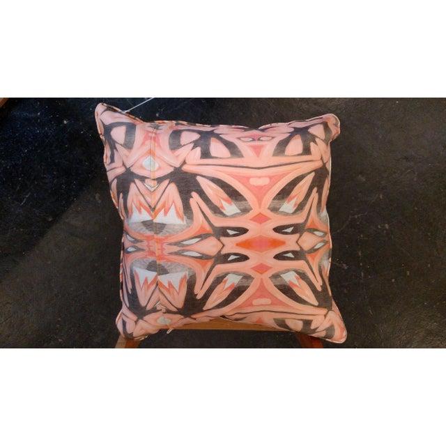 Small Peach Pillows by Amanda Talley - a Pair - Image 5 of 5