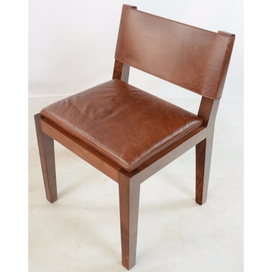 Hudson Furniture Modern Leather Chairs - Set of 4 - Image 3 of 6