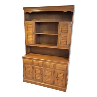 1940s Mid-Century Modern Heywood Wakefield Dinette Hutch and Server