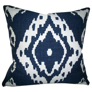 Shirvan True Blue Ikat Pillow