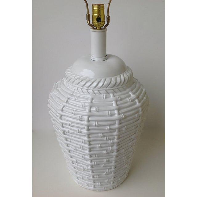 Faux Bamboo Large Bulbous Lamp - Image 5 of 10