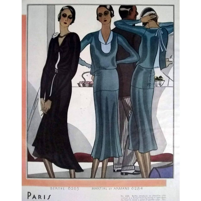 1930s 1930 McCalls Dressmaking Pattern Advertisements- Pair For Sale - Image 5 of 8