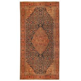 Antique Oversize 19th Century Persian Sarouk Rug For Sale
