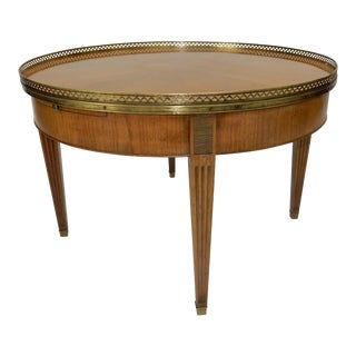 Baker Furniture Regency Directoire Style Round Coffee Bouillotte Table