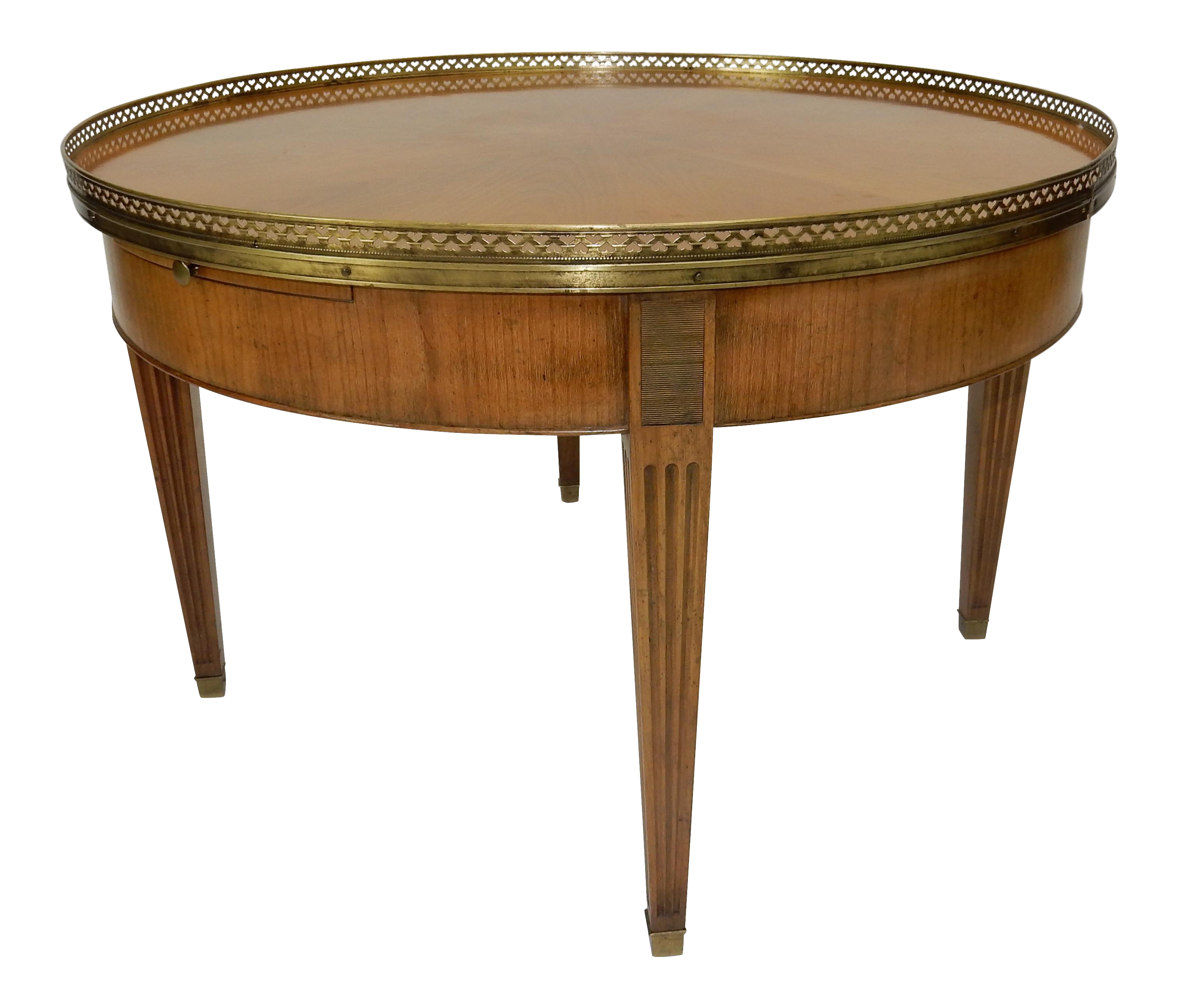 High Quality Baker Furniture Regency Directoire Style Round Coffee Bouillotte Table
