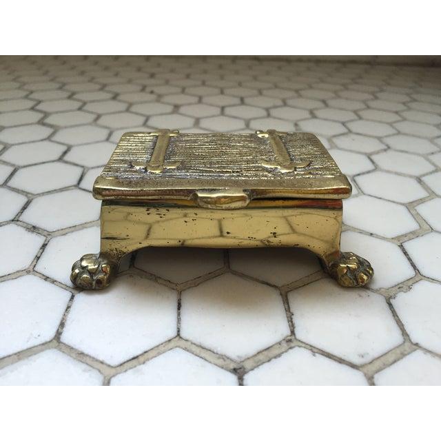 Mid-Century Brass Treasure Chest - Image 3 of 6