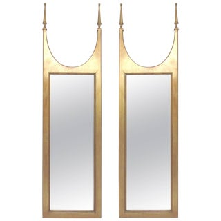 Pair of Hollywood Regency Gilded Mirrors in the Manner of Tommi Parzinger For Sale
