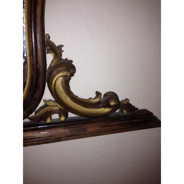 Antique Hand-Carved Wood Framed Mirror - Image 6 of 11