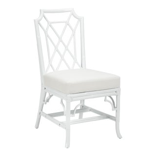 Wild Palm Side Chair, White For Sale