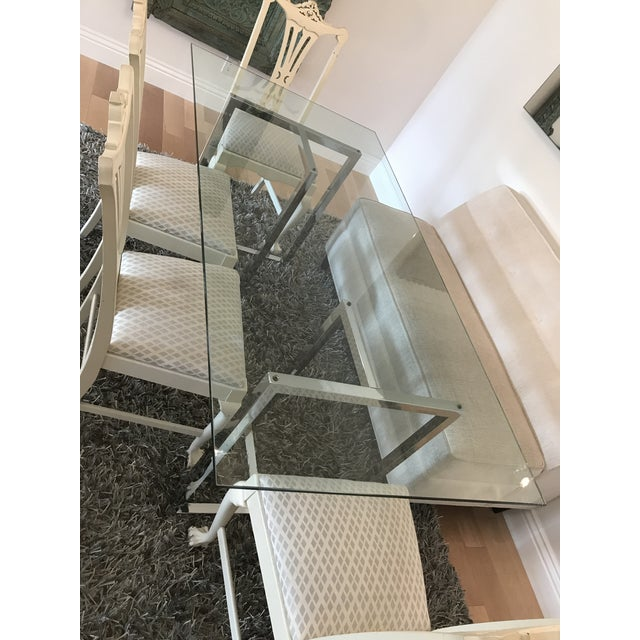 Contemporary Silverado Chrome Dining Table For Sale - Image 3 of 8