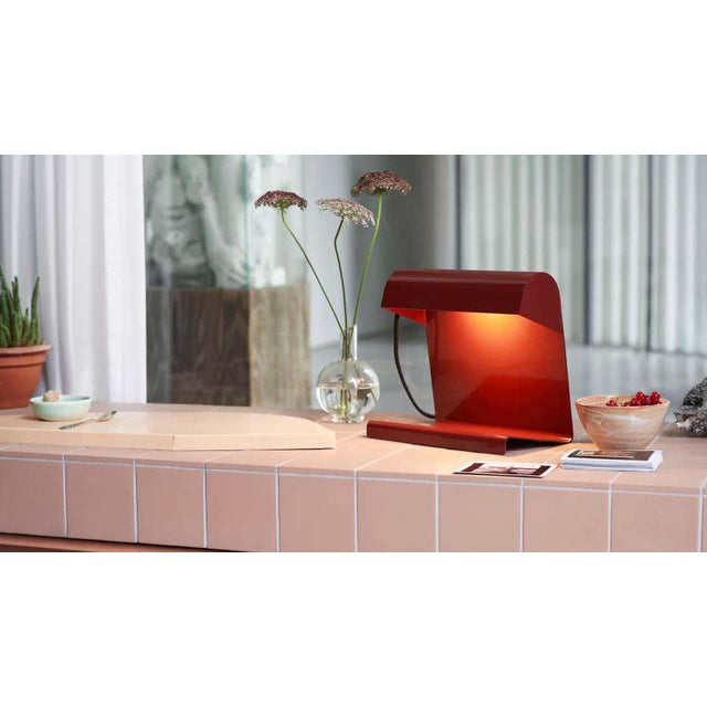 Not Yet Made - Made To Order Jean Prouvé 'Lampe De Bureau' Table Lamp in Red for Vitra For Sale - Image 5 of 11