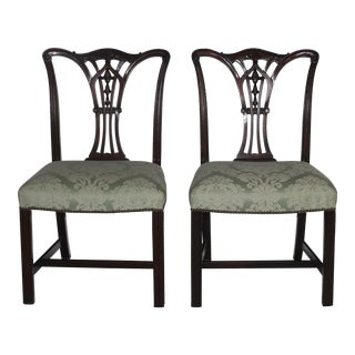 Chippendale Style Dining Chairs - A Pair