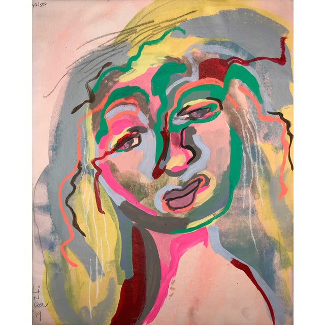 Early 21st Century Contemporary Portrait Paintings Abstract Collection - Set of 6 For Sale - Image 5 of 8