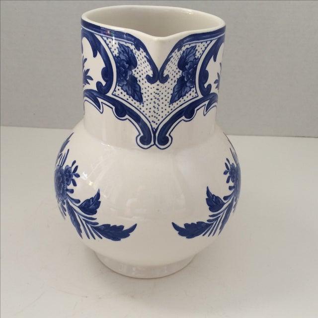 Tiffany & Co Delft Blue & White Pitcher - Image 3 of 6