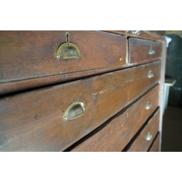 Wood 19th Century Welsh Train Station Cabinet For Sale - Image 7 of 10