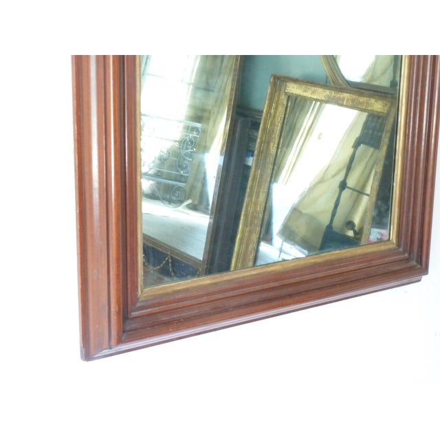 Early American Curve Top Walnut Mirror For Sale - Image 3 of 6