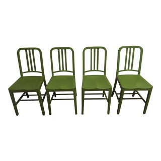 Green Emeco 111 Navy Chairs - Set of 4 For Sale