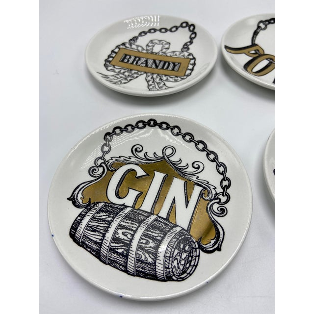1950s Piero Fornasetti Vini E Liquori Coasters, 1950s - Set of 4 For Sale - Image 5 of 9
