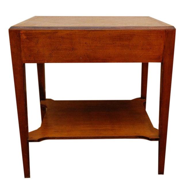 Mid-Century Modern Burlwood Side Table For Sale