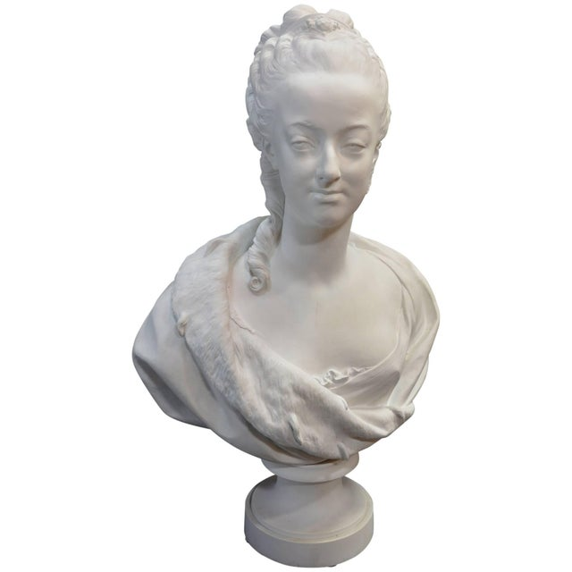 Ceramic Bisquit Bust of Marie Antionette For Sale - Image 7 of 7