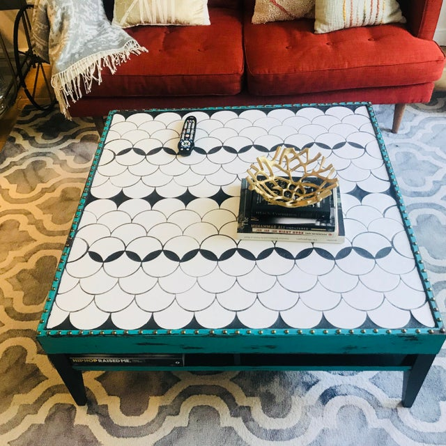Tile Top Coffee Table For Sale - Image 11 of 13