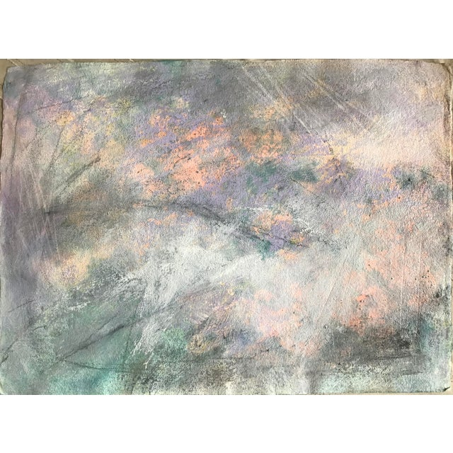 """Acrylic 1980s Abstract Painting With Pencil Female Bay Area Artist """"Ashland Ducks Xvii"""" For Sale - Image 7 of 7"""