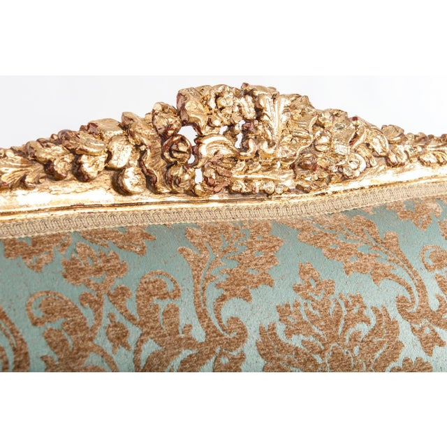 Louis XVI Antique Gilded Louis XVI Style Settee For Sale - Image 3 of 7