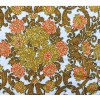 Mid Century Bloomcraft Fabric Bedspread Retro Flowers For Sale