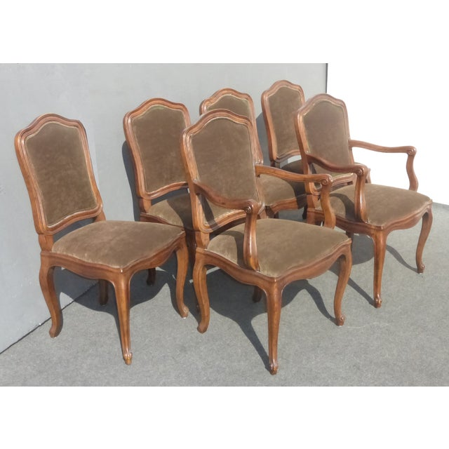 French Henredon Mohair Dining Chairs - Set of 6 - Image 3 of 11