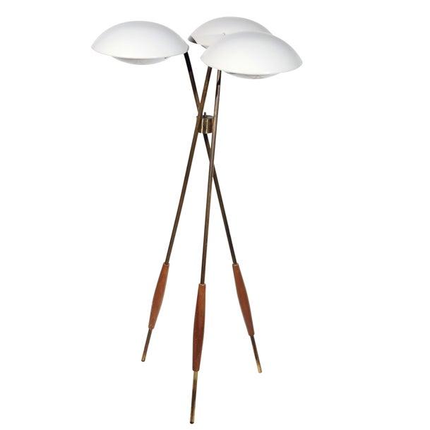 Gerald Thurston Lightolier Tripod Floor Lamp - Image 1 of 3