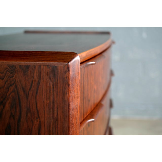 Vintage Danish Mid-Century Rosewood Five-Drawer Dresser For Sale - Image 4 of 11