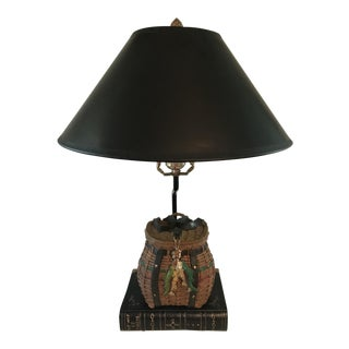 Vintage Fishing Creel Table Lamp