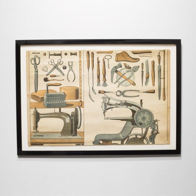 German Industrial Framed Elementary School Scrolls C.1930 For Sale - Image 10 of 10