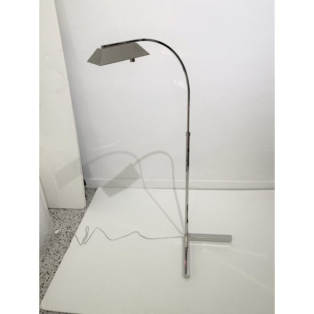 Casella Floor Lamp Nickel Plated For Sale - Image 9 of 12