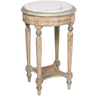 Italian Handcarved Wooden Side Table For Sale