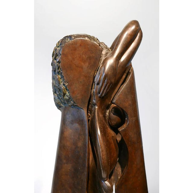 Abstract Unique Bronze Sculpture by Jean-Robert Ipoustéguy 'Jeune Fille'/ 'Young Girl' For Sale - Image 3 of 6
