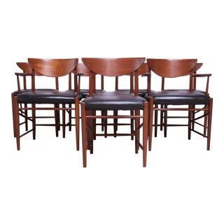 Teak Dining Chairs by Peter Hvidt and Orla Mølgaard Nielsen - Set of 8 For Sale