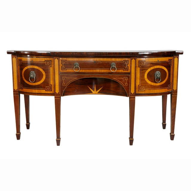 George III Mahogany and Satinwood Sideboard For Sale - Image 12 of 12