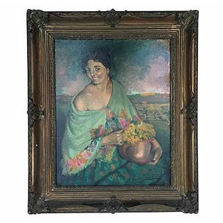 Argentinian Portrait Painting For Sale